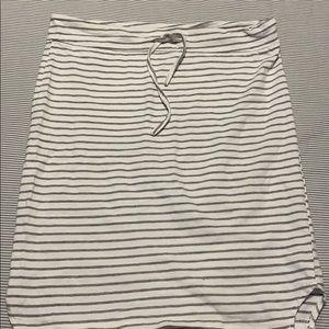 Jersey striped skirt